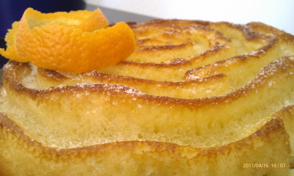 Bizcocho de yogur y naranja