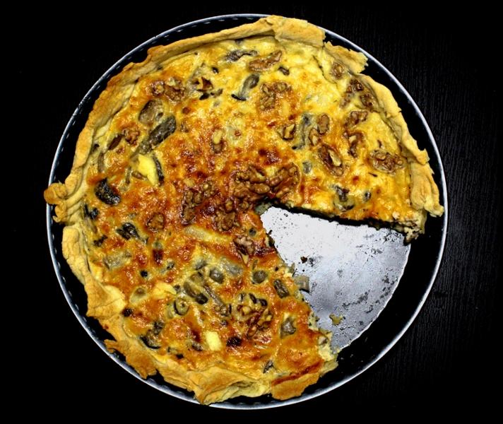 """Tarta salada de revuelto de setas con queso y nueces"""" CSC #11"""