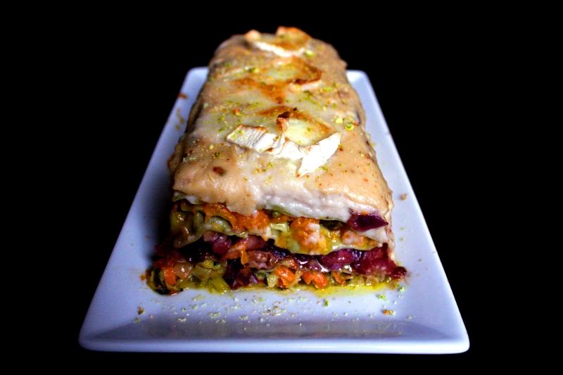 Lasaña de verduras y pistachos CSC#13 Cocinamos sin crueldad