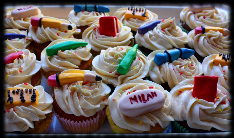 Cupcakes vuelta al cole