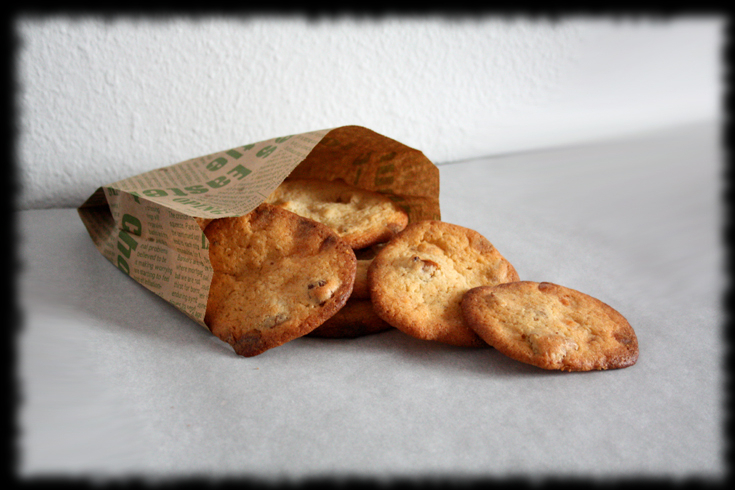 Cookies de chocolate blanco y nueces