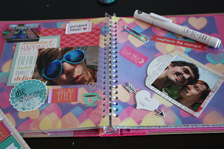"La de dah pretty creative journal pretty ""Tape Pink"" LOVE"