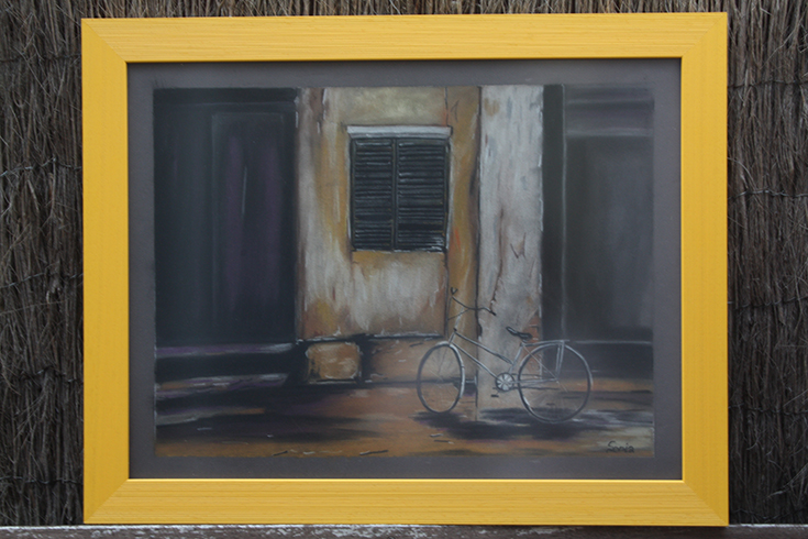Cuadro Bicicleta ( pintura pastel)
