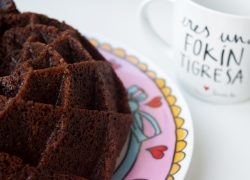 Bundt cake de chocolate y nata