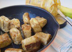 Rollos pan rebozado con plátano